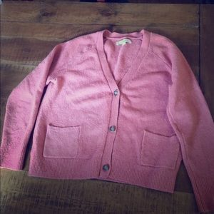 Loft sweater size L pretty coral color